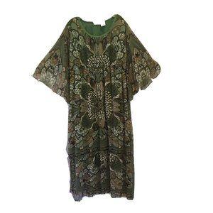 Blair Boho Green Maxi Long Dress Retro Design